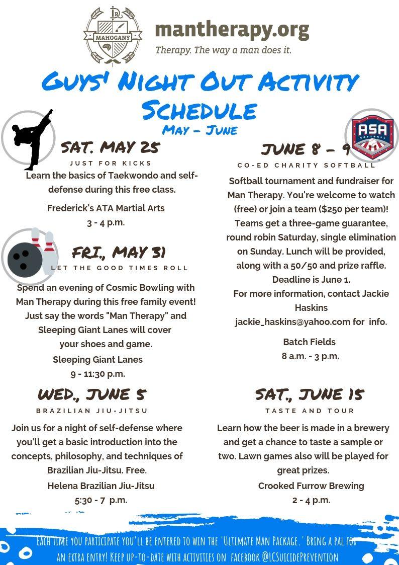Guys Night Out ActivitiesMay-June